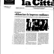 12/07/1012 La Città: Rilanciare le imprese emiliane