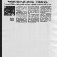 24/11/2011 La Città: Workshop internazionale per i prodotti tipici