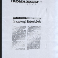 09/06/2011 Roma: Sguardo agli Emirati Arabi