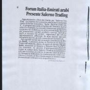 08/06/2011 La Città: Forum Italia Emirati Arabi presenta Salerno Trading