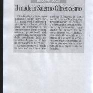 26/05/2011 La Città: Il made in Salerno oltreoceano