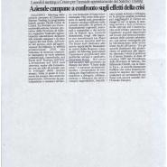 19/02/2010 Il Salernitano: Aziende Campane a confronto sull'effetto della crisi