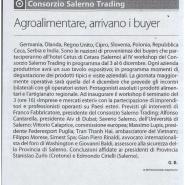 30/11/2009 Corriere del Mezzogiorno: Consorzio Salerno Trading Agroalimentare arrivano i buyer