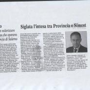 30/10/2009 Cronache del Mezzogiorno: Siglato l'intesa tra Provincia e Simest
