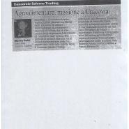 23/10/2009 Corriere del Mezzogiorno: Agroalimentare, missione a Cracovia