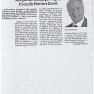 30/10/2009 La Città: Sostegno alle aziende per l'export. Protocollo Provincia-Simest