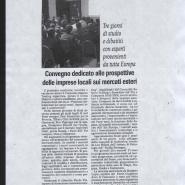 23/03/2008 Cronache del Mezzogiorno: Convegno dedicato alle prospettive delle imprese locali sui mercati esteri