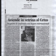 03/12/2008 La Città: Aziende in vetrina al Cetus