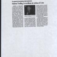04/12/2008 Corriere del Mezzogiorno: Salerno Trading, le eccellenze in vetrina al Cetus