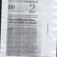 """15/12/2008 Corriere del Mezzogiorno: Cina sempre più vicina:""""Da noi molte occasioni"""""""