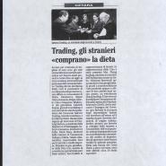 """12/12/2008 Il Mattino: Trading, gli stranieri """"comprano"""" la dieta"""
