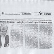 03/12/2006 Il Salernitano: Le Aziende di Salerno Trading incontrano i buyers di mercati esteri