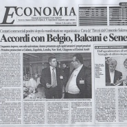 09/12/2006 Economia: Accordi con Belgio, Balcani e Senegal