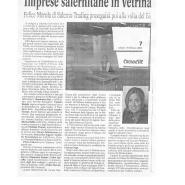 18/02/2006 Cronache del Mezzogiorno: Imprese Salernitane in vetrina