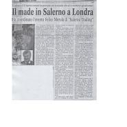 06/04/2006 Cronache del Mezzogiorno: Il made in Salerno a Londra