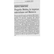 11/06/2006 Il Mattino: Progetto Medea, le imprese salernitane nel Marocco