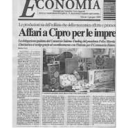 03/06/2006 Il Salernitano: Affari a Cipro per le imprese