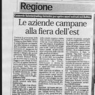 08/06/2012 Otto Pagine: Le aziende campane alla fiera dell'Est
