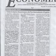 15/09/2006 Il Salernitano: Ventisei le imprese che partecipano alla Fiera Internazionale di Zagabria