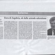 15/09/2006 Cronache del Mezzogiorno: Salerno Trading Fiera di Zagabria, ok dalle aziende salernitane