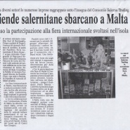25/07/2006 Cronache del Mezzogiorno: Le Aziende Salernitane sbarcano a Malta
