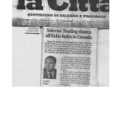 12/06/2005 La Città: Salerno Trading sbarca all'Echo Italia in Canada