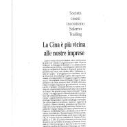 24/10/2005 Cronache del Mezzogiorno: Società cinesi incontrano Salerno Trading