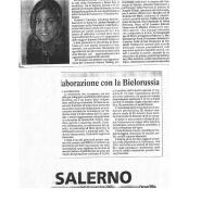 08/11/2005 Cronache del Mezzogiorno: Aziende salernitane stringono rapporti di collaborazione con la Bielorussia