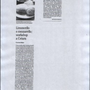 19/11/2012 Il Mattino: Limoncello e Mozzarella Workshop a Cetara