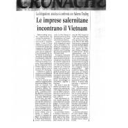 03/12/2005 Cronache del Mezzogiorno: Le imprese salernitane incontrano il Vietnam
