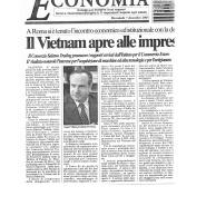 07/12/2005 Il Salernitano: Il Vietnam apre alle imprese