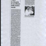 08/11/2012 Il Mattino: In Lituana le eccellenze della nostra tavola