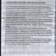 08/11/2012 Roma: Consorzio Salerno Export in Lituania